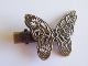 * Hair Clip - Antique Bronze - Butterfly
