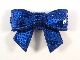 Sequin Bow - Royal Blue