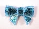 Sequin Bow - Light Blue