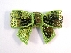 Sequin Bow - Lime