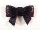 Sequin Bow - Black