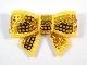 Sequin Bow - Yellow