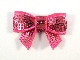 Sequin Bow - Cerise