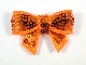 Sequin Bow - Orange