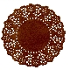 Coloured Paper Doilies - Chocolate