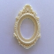 Resin Frame - Oval - Ivory