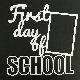 Creative Cuts - Page Cut - First Day of School