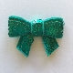 Sequin Bow - Teal