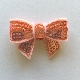 Sequin Bow - Peach