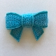Sequin Bow - Bright Blue