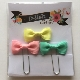 Bitty Bow Clips - Pastel Mix