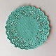 Coloured Paper Doilies - Aqua